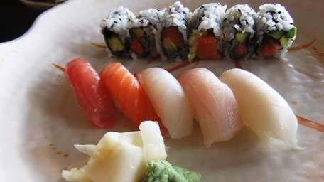 Sushi lunch special at Sushi Village in Hicksville