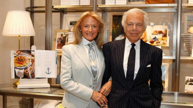 Ricky Lauren and Ralph Lauren at the celebration