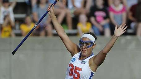 Florida attacker Gabi Wiegand reacts after scoring against