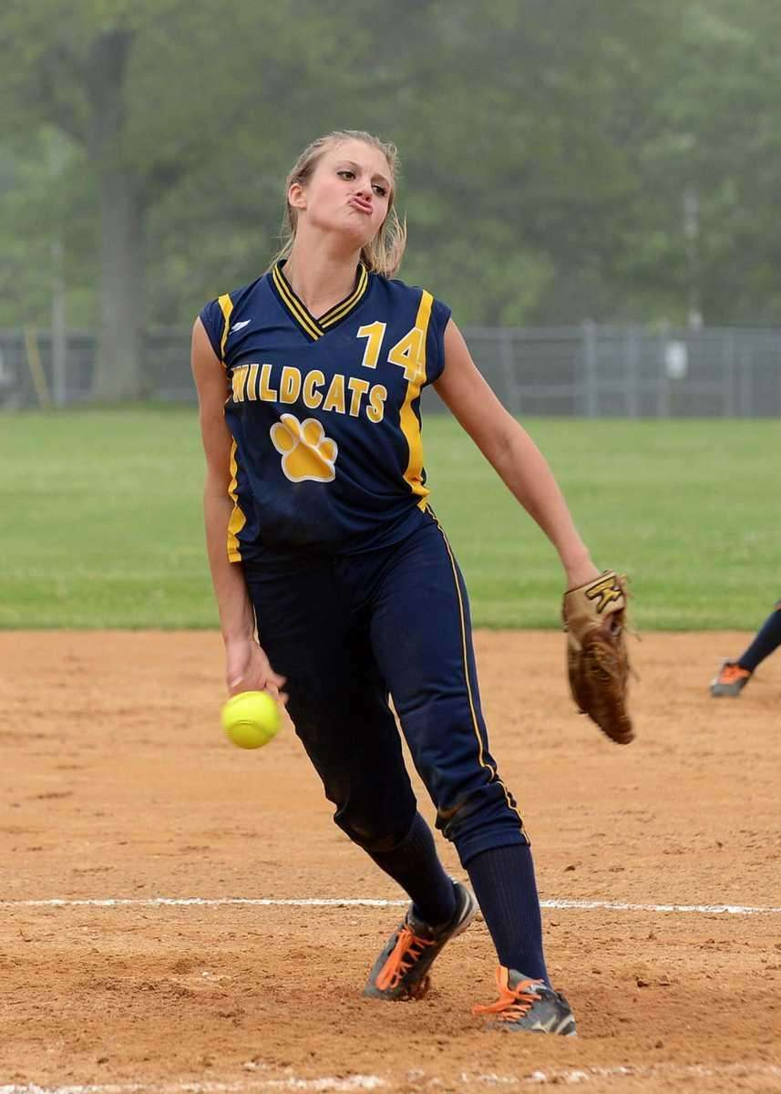 Shoreham-Wading River's Chelsea Hawks delivers to the plate