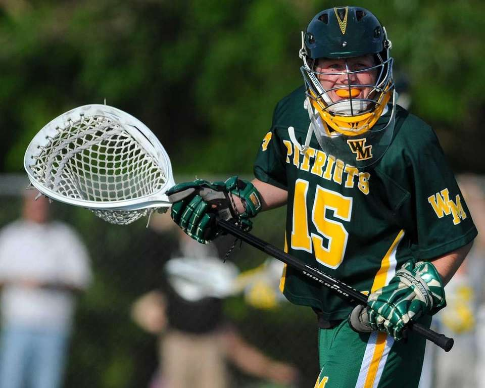 Ward Melville goalie Danny Nemirov smiles as the
