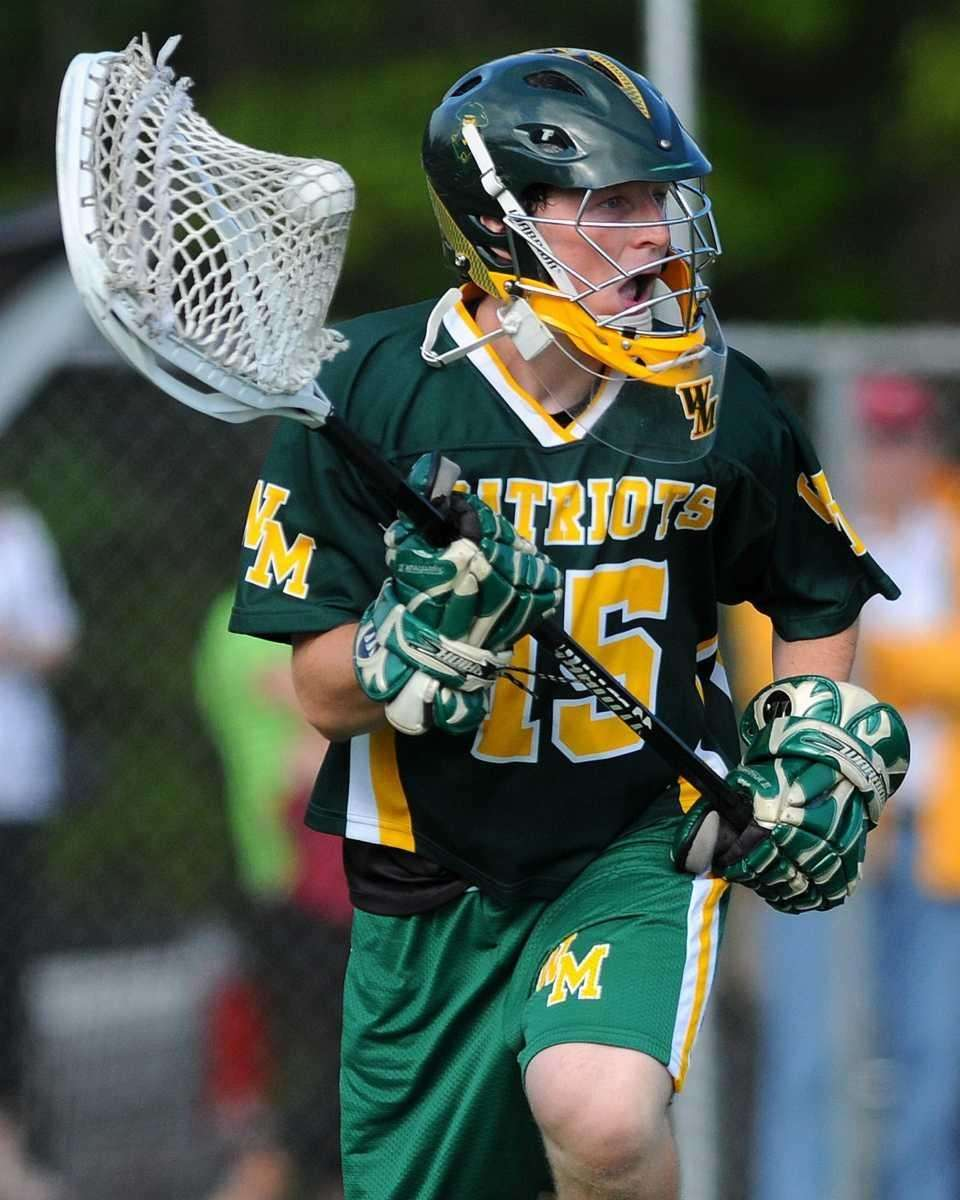 Ward Melville goalie Danny Nemirov looks to make