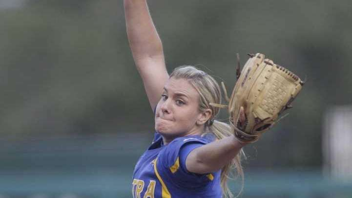 Starting pitcher Olivia Galati pitches during the first