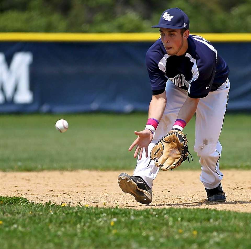 Eastport-South Manor second baseman Anthony Annunziata plays the