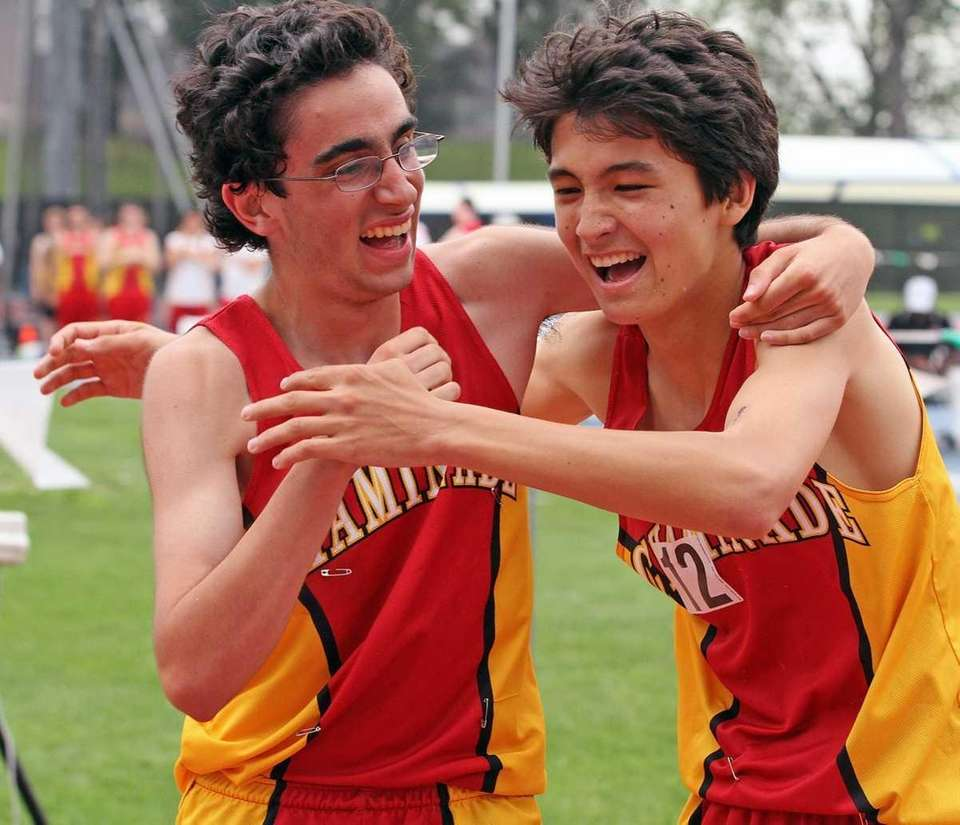 Chaminade's Thomas Awad, left, who came in second