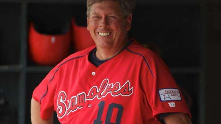 Stony Brook University baseball coach Matt Senk. (2012
