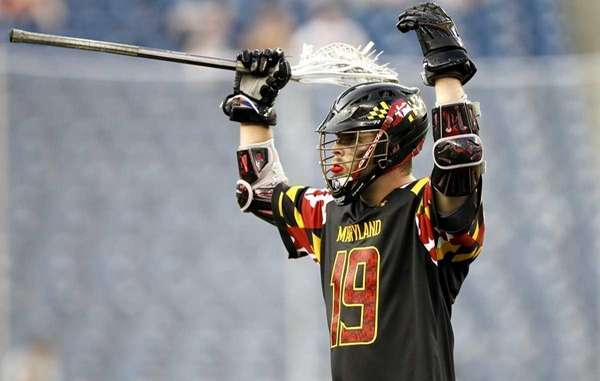 Christian Walsh of the Maryland Terrapins celebrates a