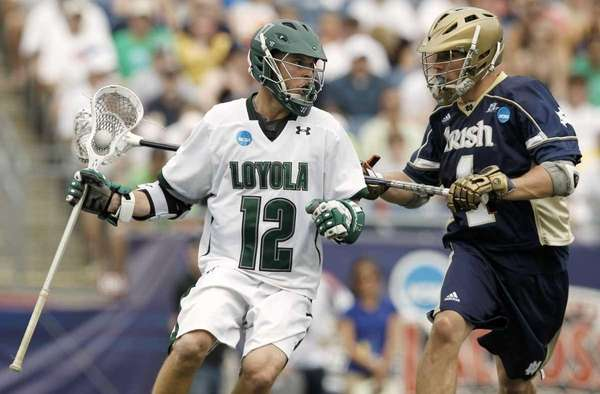 Eric Lusby of the Loyola Greyhounds carries the