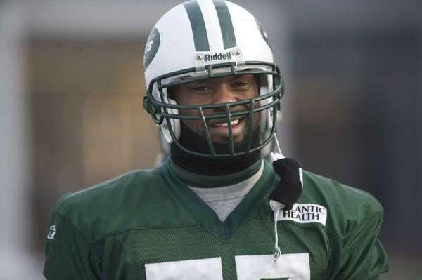 Jets linebacker Bart Scott during practice. (Jan. 11,