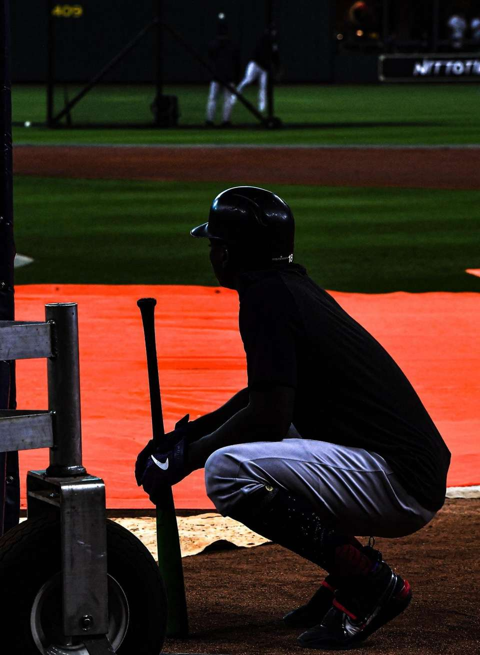 New York Yankees shortstop Didi Gregorius (18) before