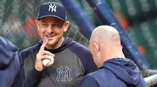 Yankees manager Aaron Boone before Game 1 of