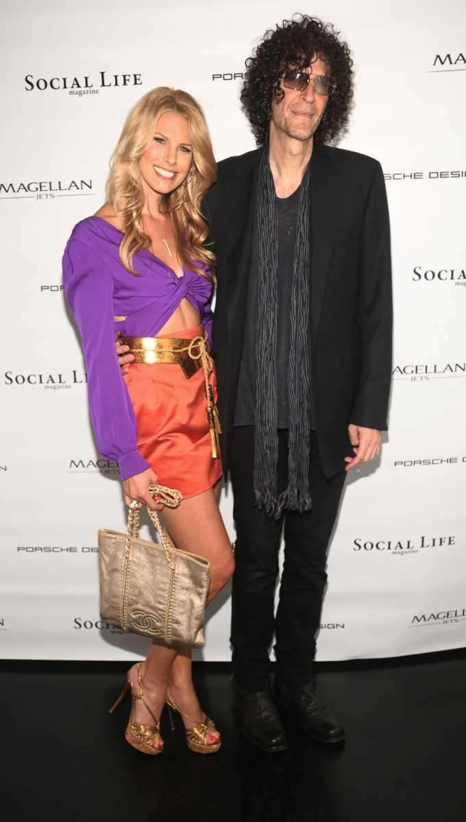 Beth Ostrosky Stern and Howard Stern attend the