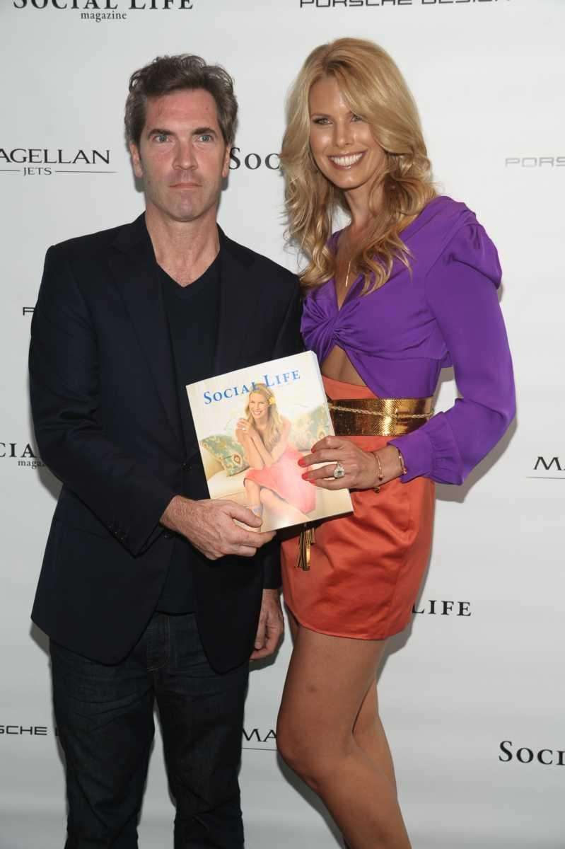 Publisher Justin Mitchell and Beth Ostrosky Stern attend