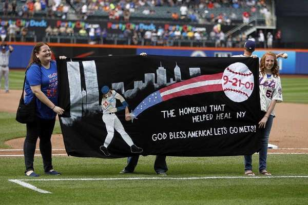 The winning entry from the New York Mets