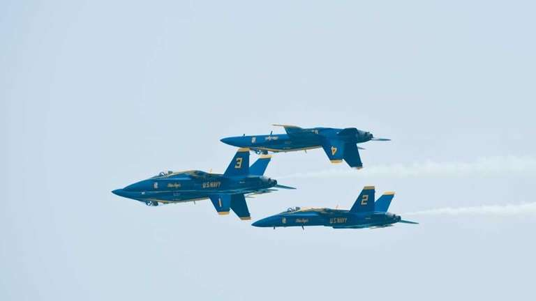 The U.S. Navy's Blue Angels soar across the