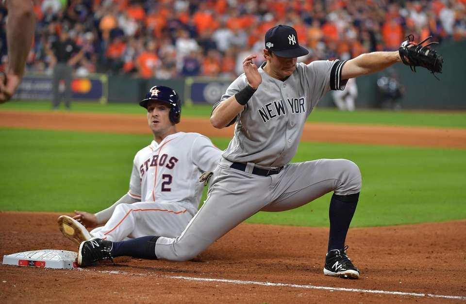 Houston Astros third baseman Alex Bregman (2) is