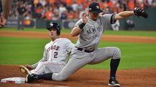 Houston Astros third baseman Alex Bregman (2) is