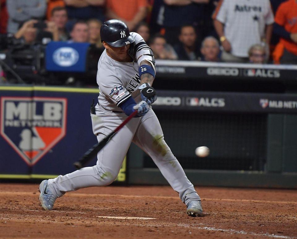 New York Yankees second baseman Gleyber Torres (25)with