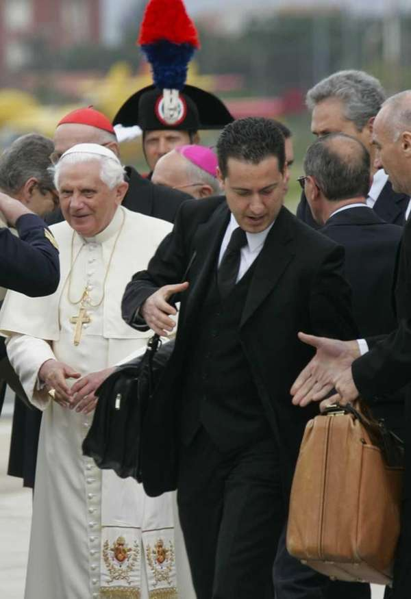 Paolo Gabriele, the Pope's butler, is seen at