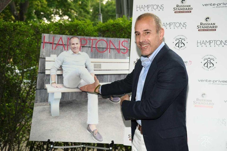 Matt Lauer attends Hamptons Magazine celebrates Matt Lauer