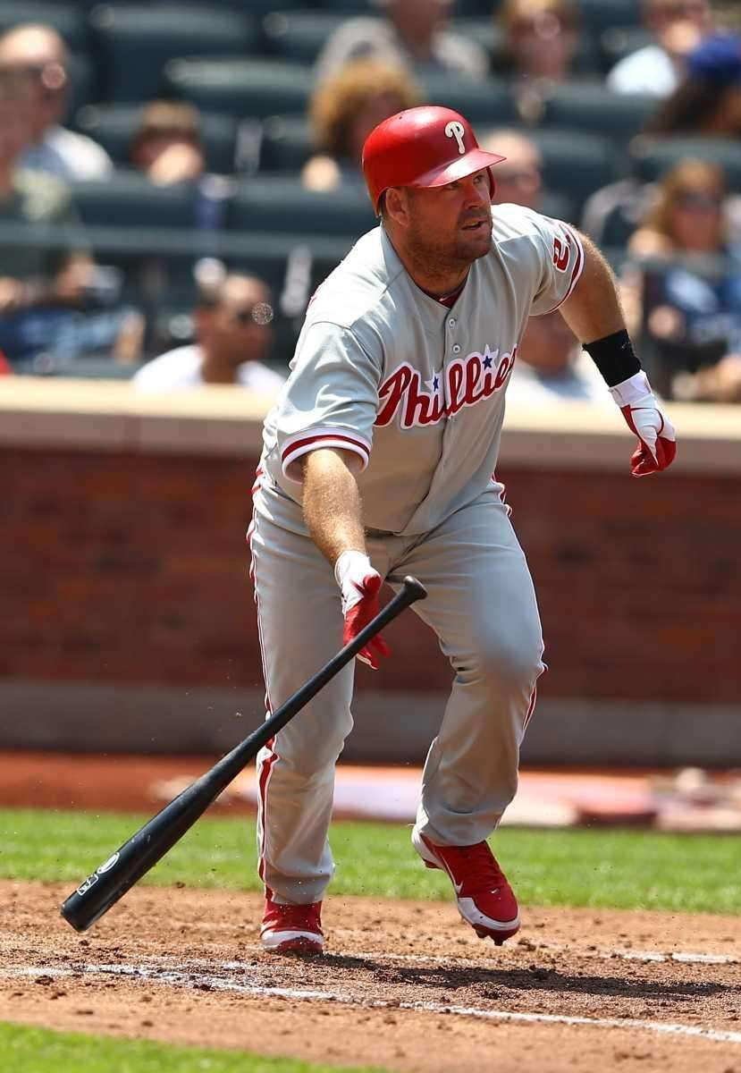 Ty Wigginton of the Philadelphia Phillies hits a