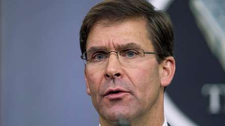 Secretary of Defense Mark Esper said more U.S.