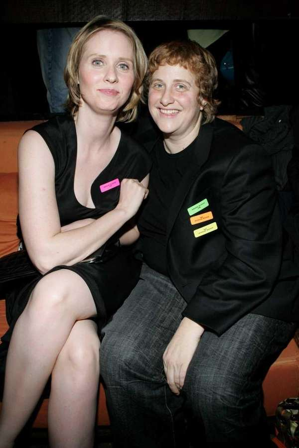 Cynthia Nixon and Christine Marinoni attend the N's