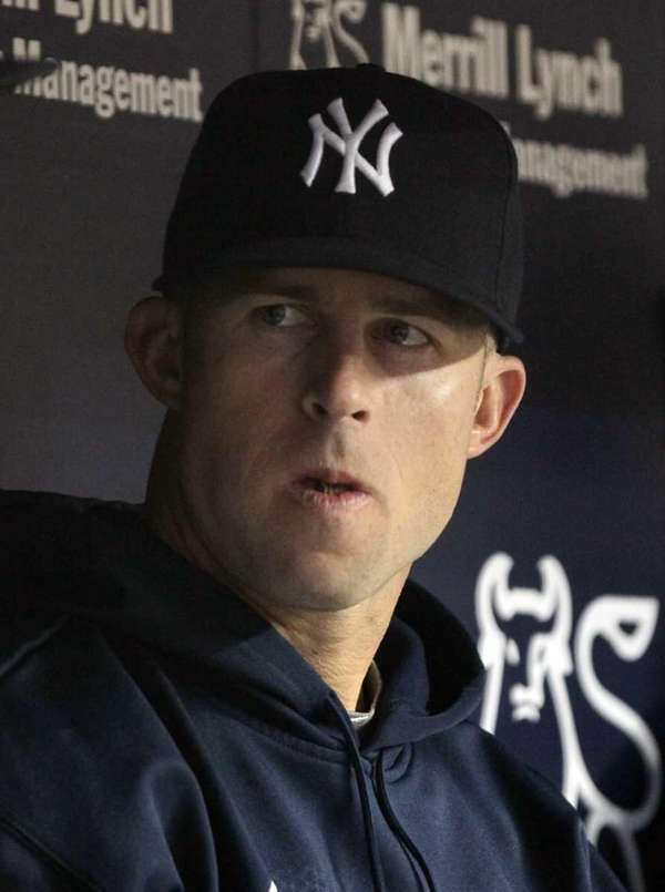 Brett Gardner looks on from the dugout. (May