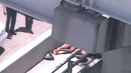 In this image taken from video, Miami police