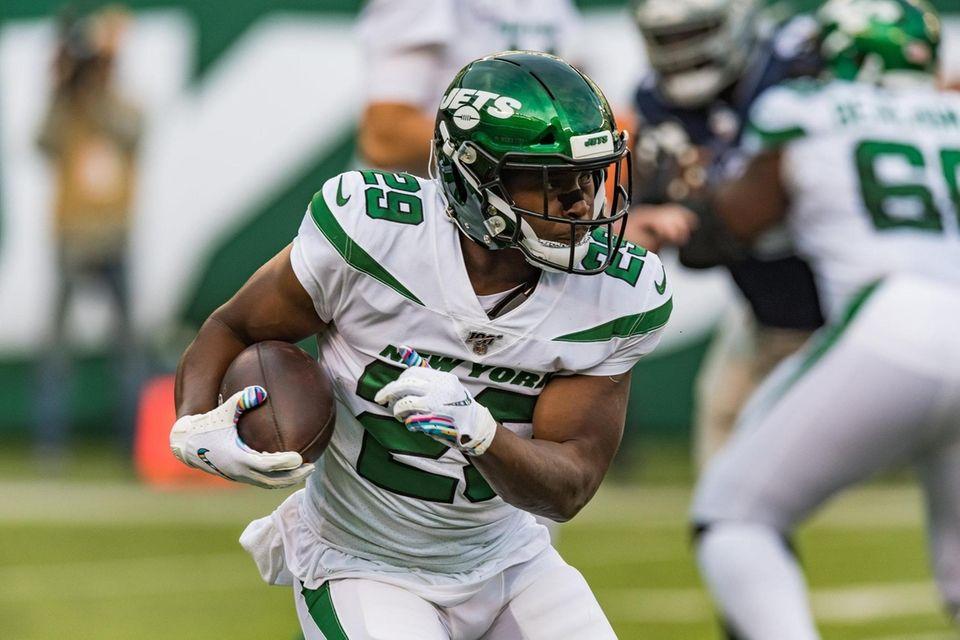 New York Jets running back Bilal Powell (29)