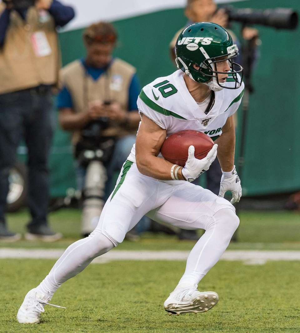 New York Jets wide receiver Braxton Berrios (10)