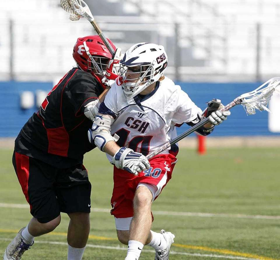 Cold Spring Harbor's Danny Simonetti (40) evades Friends'