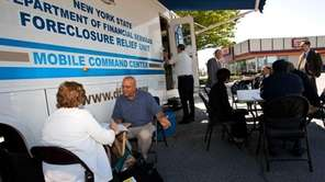 A state foreclosure relief van stops in Freeport