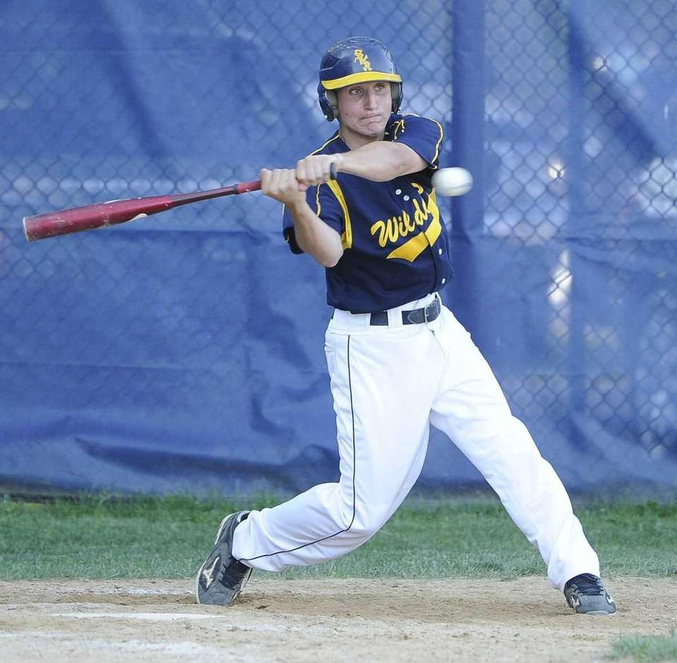 Shoreham-Wading River's Mike DiSanti singles in the seventh