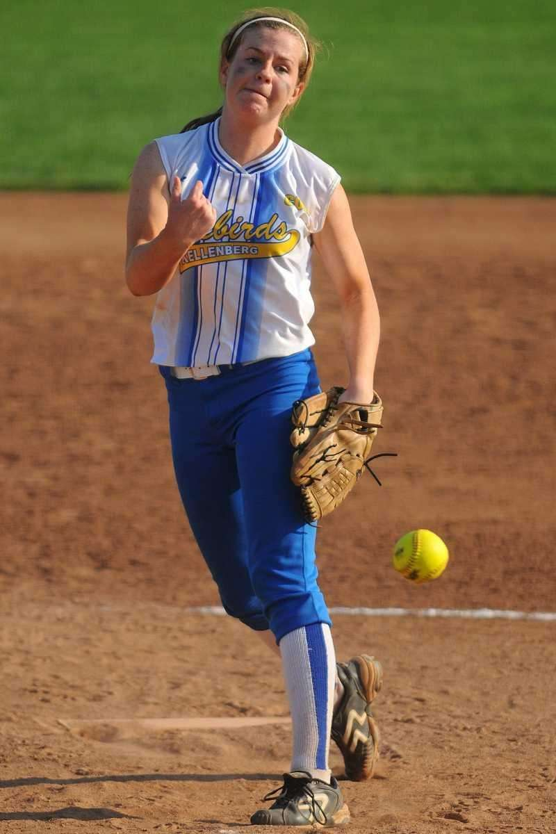 Kellenberg pitcher #10 Susan Pardo delivers to the