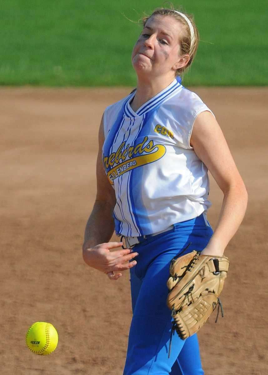 Kellenberg pitcher Susan Pardo delivers to the plate
