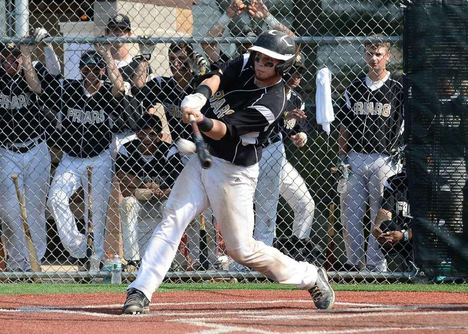 St. Anthony's Michael D'Acunti connects for a two-run