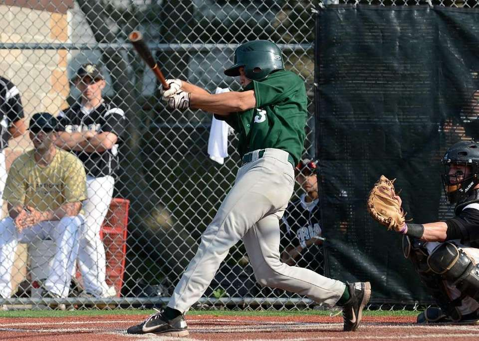 Holy Trinity's Timothy Rice connects for a two-run
