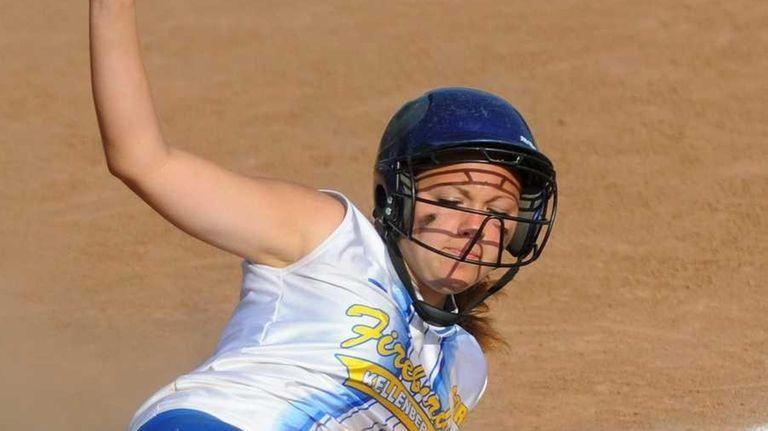 Kellenberg's Lindsey Wiese slides home safely to extend