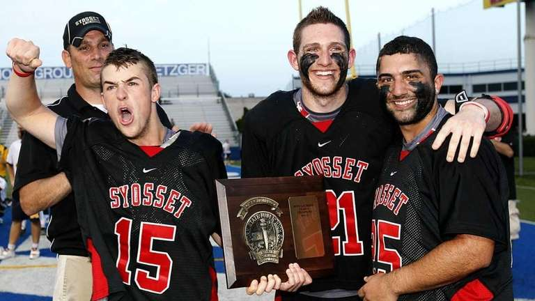 Syosset captains, left to right, Ryan Hunter, Justin