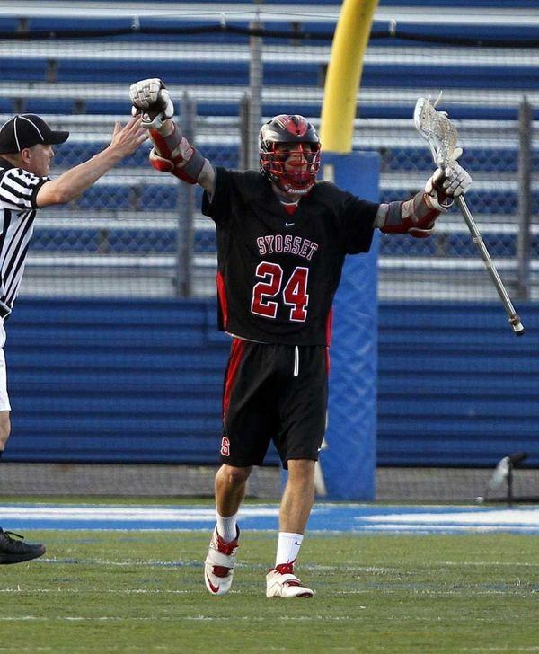 Syosset's Jon Camposa celebrates a goal in the
