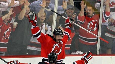 Ilya Kovalchuk of the New Jersey Devils celebrates