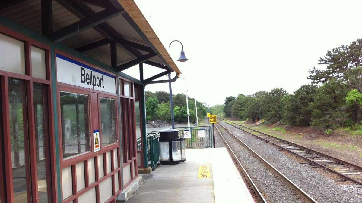 The Long Island Rail Road station in Bellport.