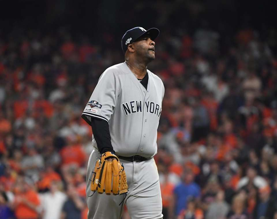 New York Yankees starting pitcher CC Sabathia (52)