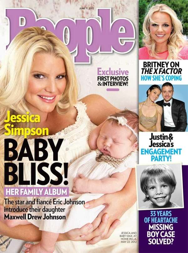 Jessica Simpson and her new baby girl, Maxwell,
