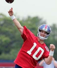 East Rutherford - May 30, 2012: Giants QB,
