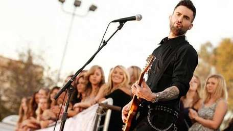 Maroon 5's Adam Levine performs at the 16th