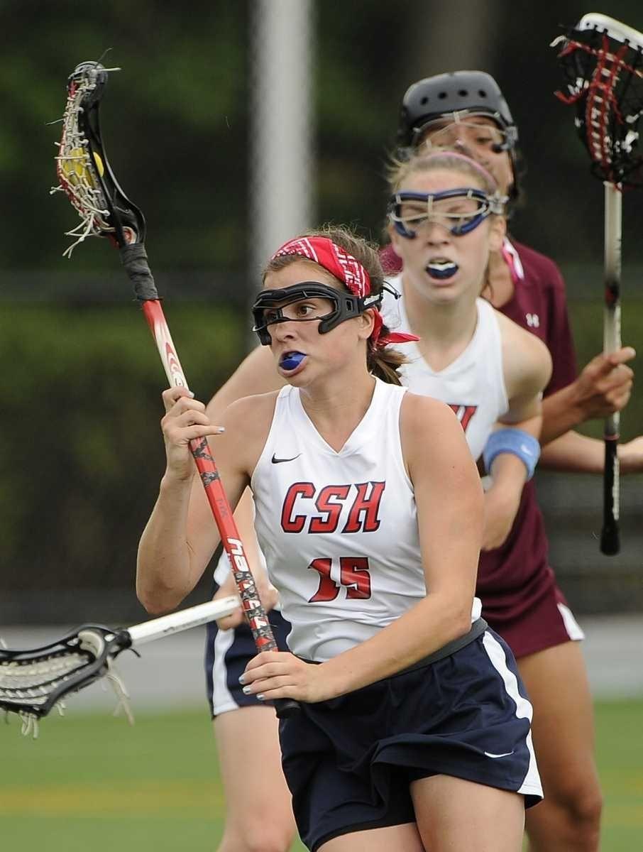 Cold Spring Harbor's Jean Atinson controls the ball