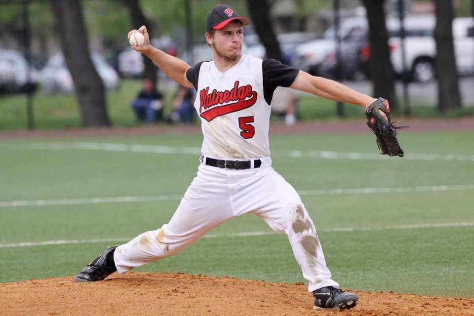 Plainedge's Michael Miller pitches against Island Trees. (May
