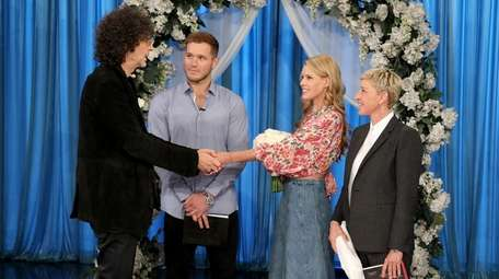 Howard and Beth Stern renew their wedding vows